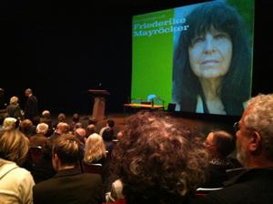 Literaturbegegnung Friederike Mayröcker Städtische Bühnen Münster 2011