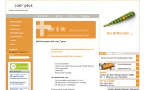 Screenshot Homepage ComPlus-Muenster