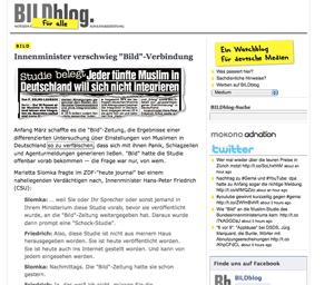 Screenshot Bildblog Muslim Studie