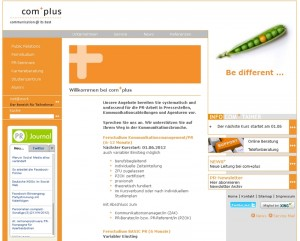 Screenshot Com-Plus Münster Homepage