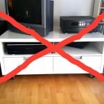 TV-Bank durchgestrichen zum Thema TV-Verzicht