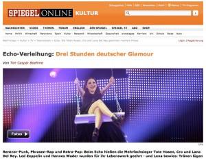 Screenshot zum Artikel Echo Preisverleihung 2013 Spiegel Online