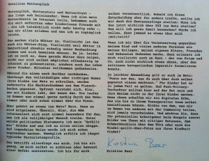 "Geteiltes Mutterglück. Kerstin Beer in der ""c´t"" (04/2013)"