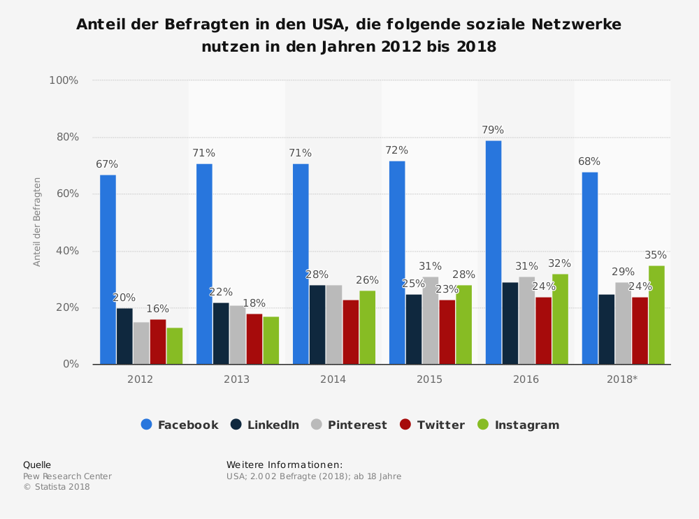 Statistik Social Networks in den USA
