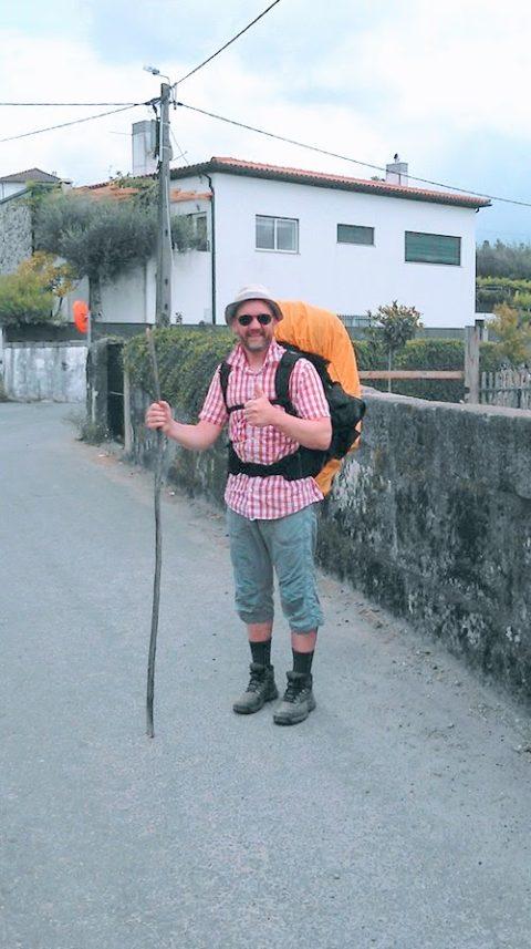 Foto von Christian Gertz auf dem Camino Portuguese im Jahr 2015.