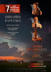 "Plakat zum Film ""Three Billboards Outside Ebbing Missouri"""
