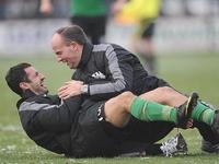 Trainer Marc Fascher Stürmer Güvenisik SC Preussen Muenster