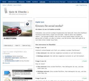 Screenshot Manager Magazin Quiz Social Media