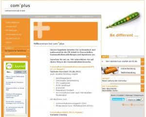 Screenshot Com-Plus Münster Homepage