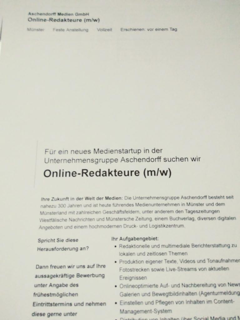 Stellenausschreibung_Online_Red_Aschendorff_Muenster