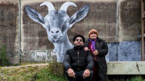 Szene aus der Dokumentation Visages Villages - Augenblicke: Gesichter einer Reise mit Agnès Varda und JR.