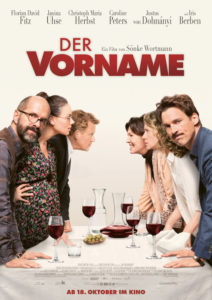 Plakat zum Film Der Vorname mit allen Darstellern am Esstisch.