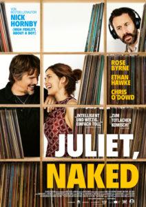 Plakat zum Film Juleiet naked mit den drei Protagonisten.